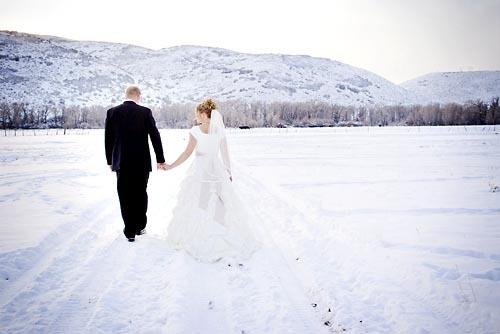 Свадьба в морозное время года