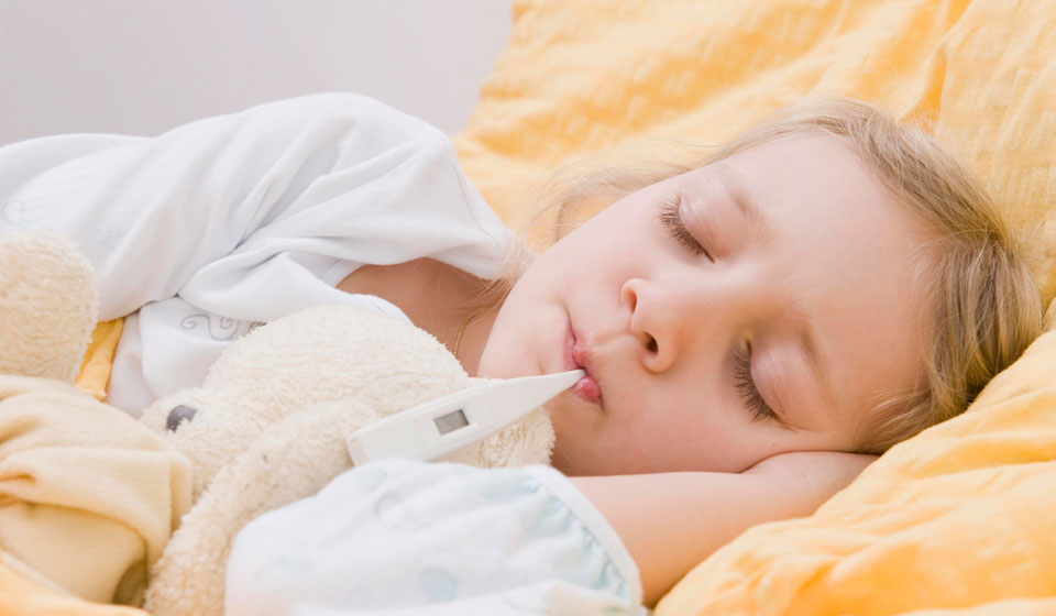 Повышенная температура и никаких других симптомов