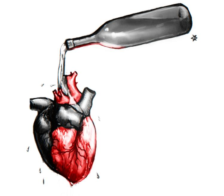 Алкоголь — враг нашего сердца